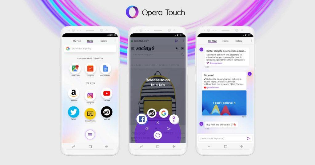 Neuer Mobil-Browser: Opera Touch synct Smartphone und Desktop