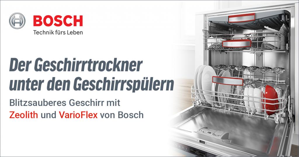 Bosch Geschirrspüler mit VarioFlex und Zeolith