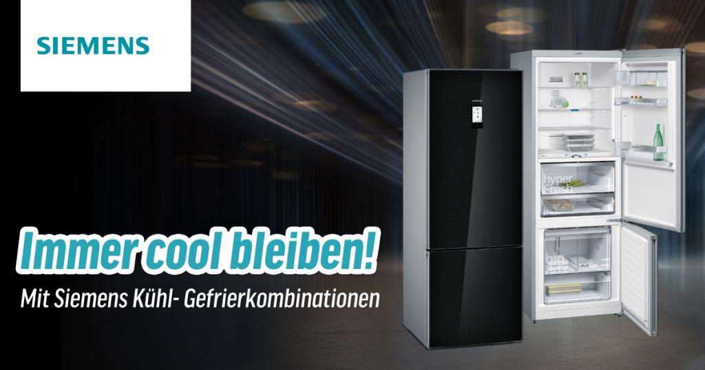 Mehr Platz, mehr Frische: Siemens Kühl- und Gefrierkombinationen