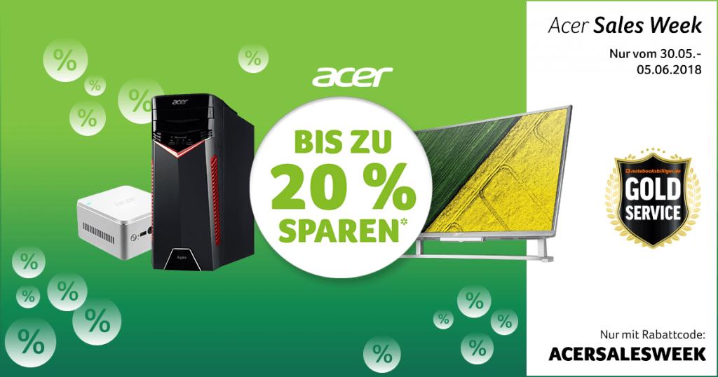 Acer Sales Week – bis zu 20% auf ausgewählte PCs und All-in-One-Rechner sparen
