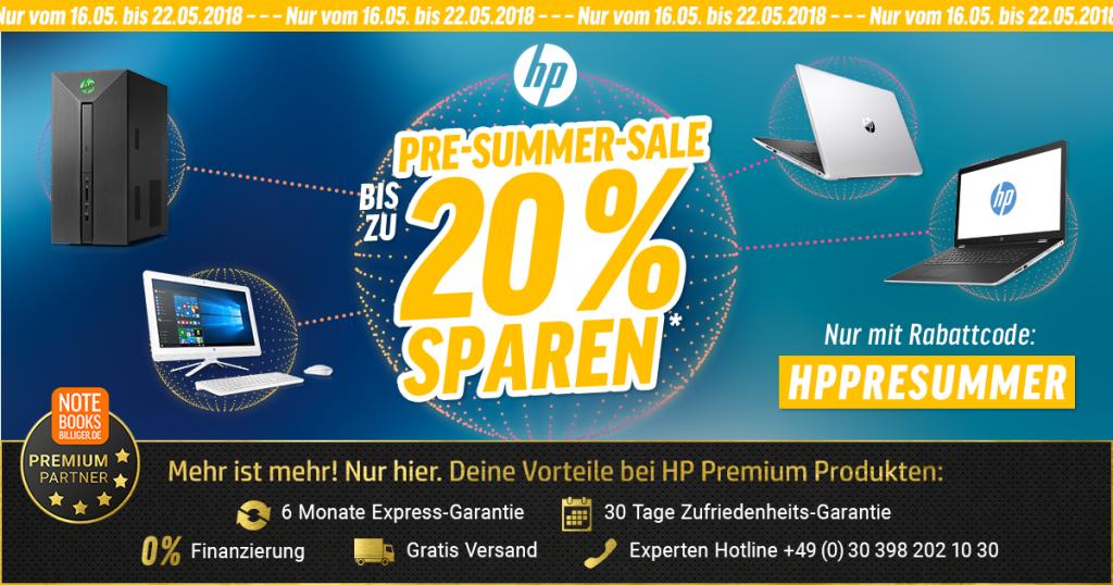HP Pre-Summer-Sale – Bis zu 20% auf ausgewählte Notebooks und PCs sparen