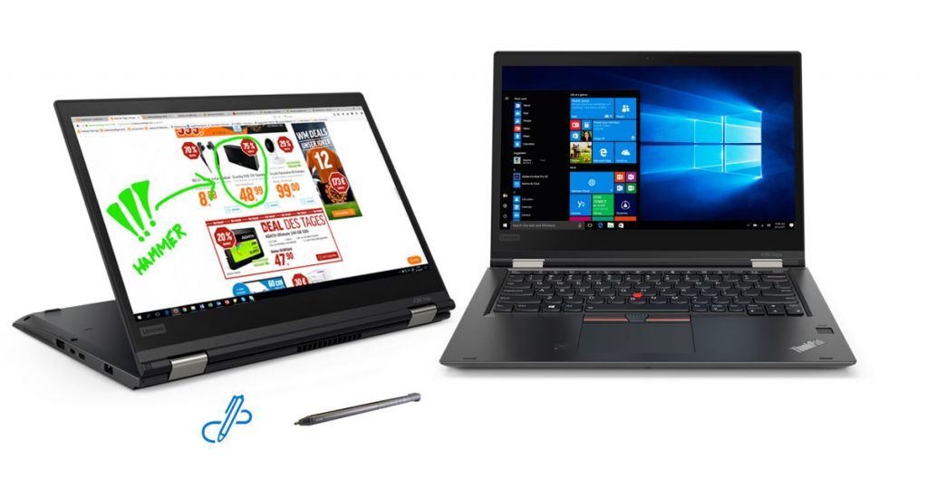 Lenovo ThinkPad X380 Yoga – Robustes Convertible-Notebook im klassischen Business-Look mit vielen Extras
