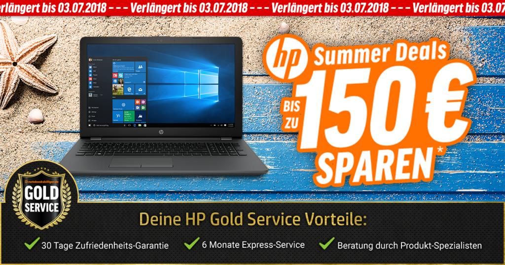 HP Summer Deals – Bis zu 150 € auf ausgewählte HP Notebooks sparen