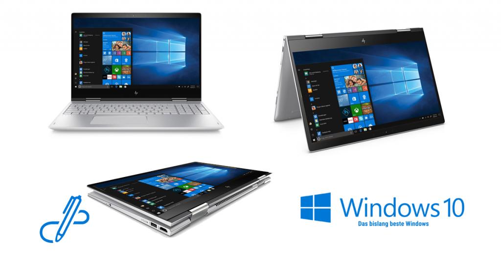 HP ENVY x360 15-bp104ng – edles Convertible-Notebook mit schnellem Prozessor und dedizierter Nvidia Grafik