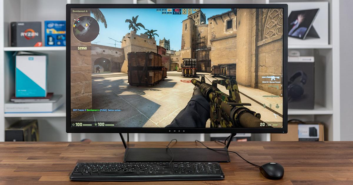 omen by hp 32 gaming monitor f r einsteiger mit 32 und. Black Bedroom Furniture Sets. Home Design Ideas