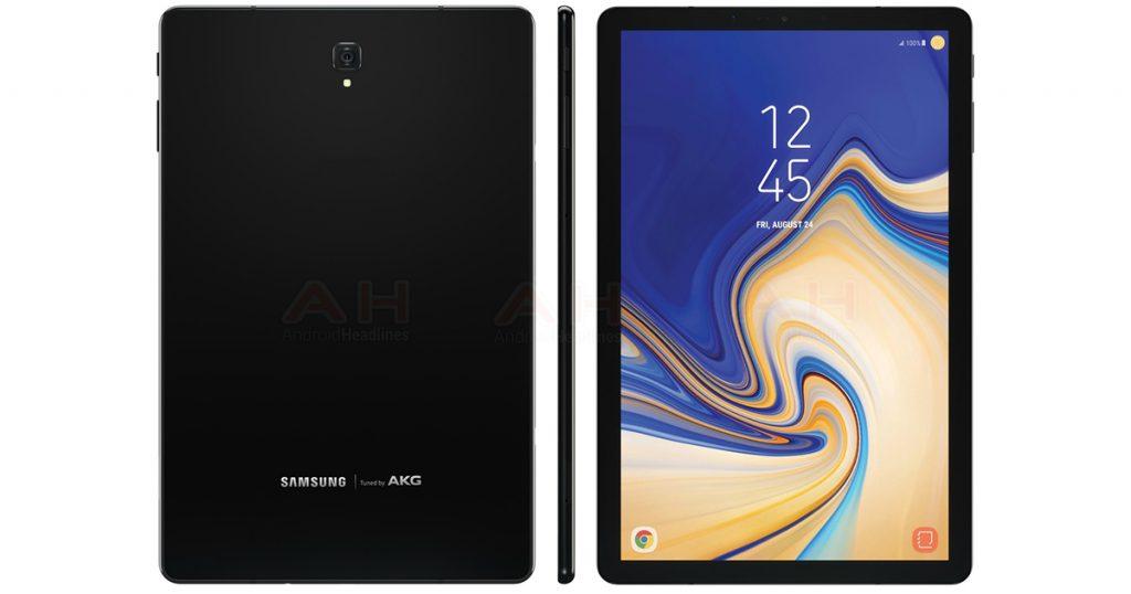 Renderbild des Samsung Galaxy Tab S4 geleakt