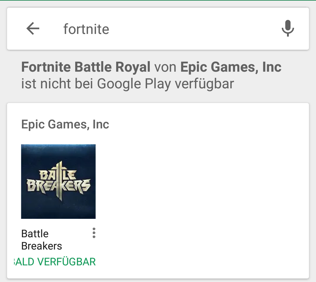 fortnite google play warnung