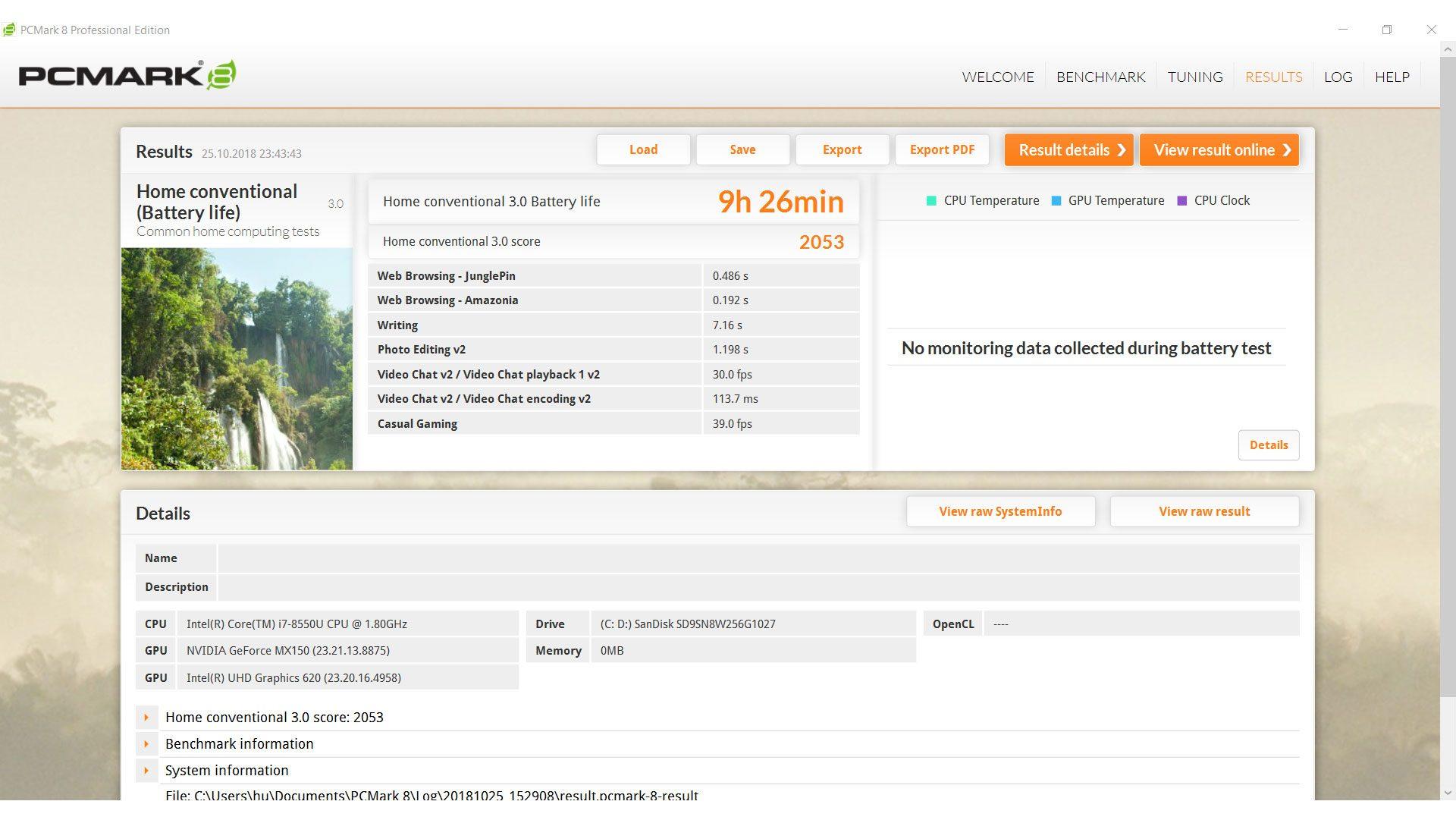 HUAWEI MateBook D W60B Benchmark_5