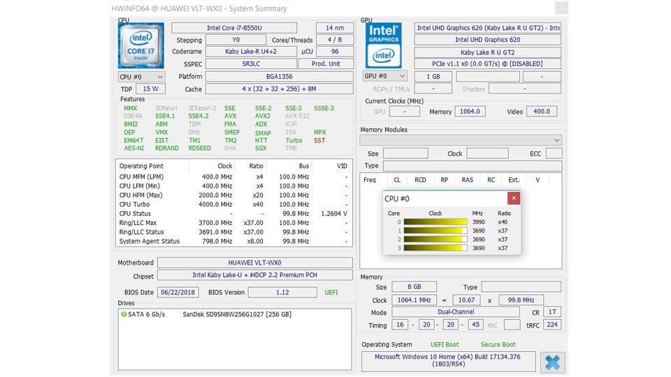 HUAWEI MateBook D W60B Hardware_9
