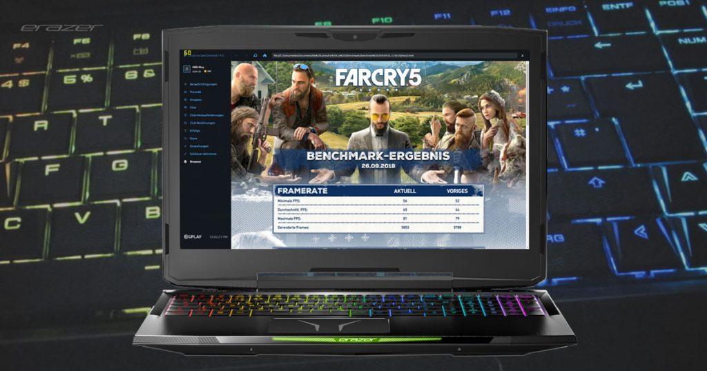 MEDION ERAZER X6805 – schickes Gaming Notebook mit Hexa-Core-CPU und GTX 1060 im Test