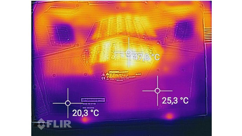 MEDION ERAZER X6805 Hitze_4