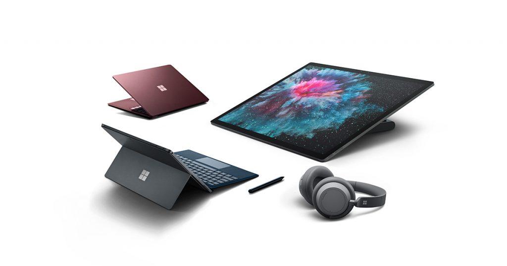 Microsoft Surface Pro 6, Surface Laptop 2, Surface Studio 2 und Surface Headphones vorgestellt