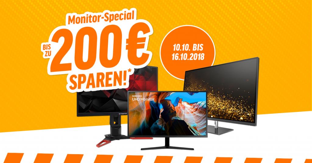 Monitor Special – bis zu 200 Euro auf ausgewählte Monitore sparen