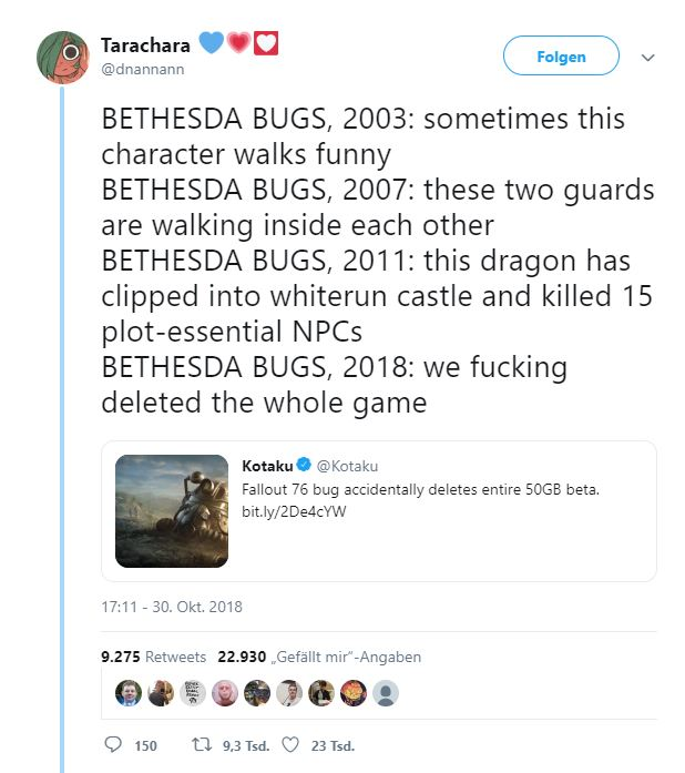 Fallout 76 B.E.T.A. Bethesda Hate