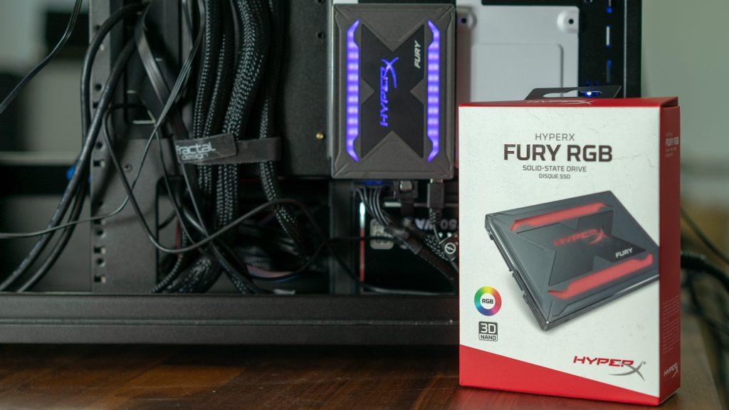 HyperX FURY RGB – Wie viel LED braucht eine SSD?