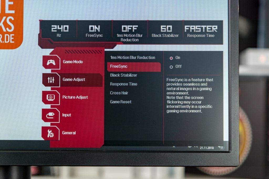 LG UltraGear 27GK750F OSD