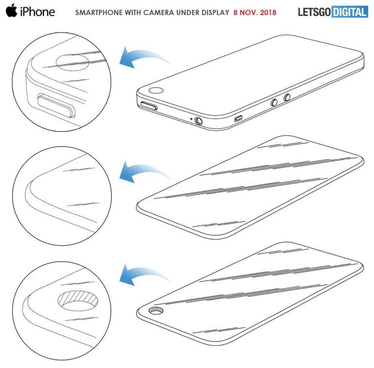 iphone patent loch im display