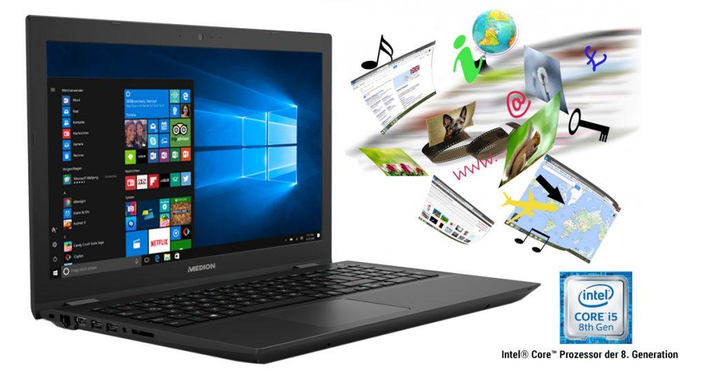 Medion AKOYA P6685 – Günstiges Multimedia-Notebook mit 15,6 Zoll Display und DVD-Brenner
