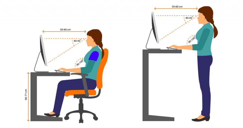 ergonomie monitor richtig einstellen aber wie. Black Bedroom Furniture Sets. Home Design Ideas