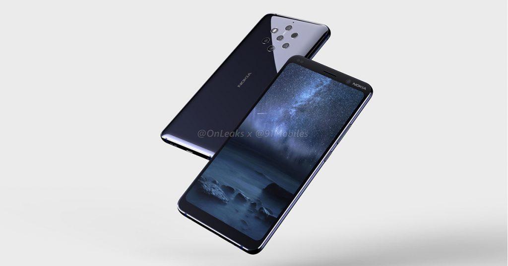 Leak: So soll das Nokia 9 mit fünf Kameras aussehen