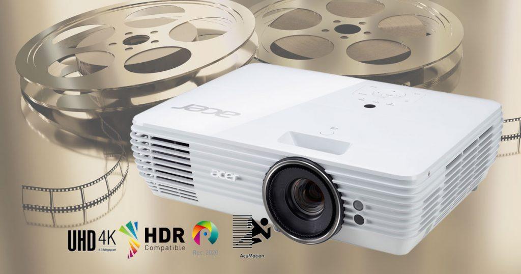 Acer M550 Beamer mit echter 4K-UHD-Auflösung, HDR, Zwischenbildberechnung und sehr hohem Kontrast im Test