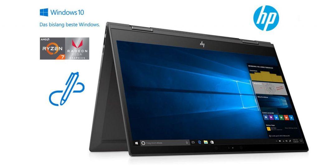 HP Envy x360 15-cp0006ng – Großes Convertible-Notebook mit AMD Ryzen 7 und viel Speicher im Test