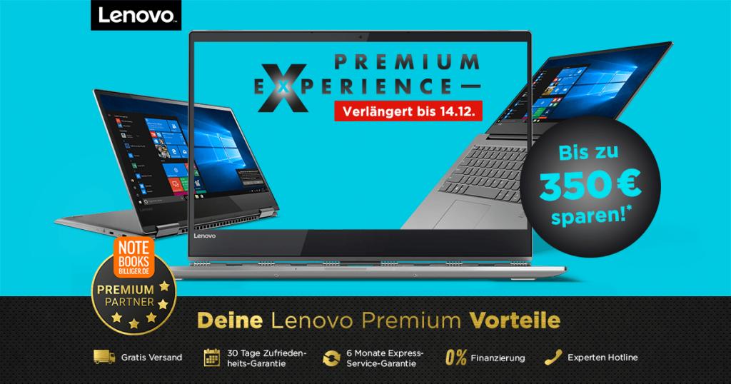 Lenovo Premium Experience Days – bis zu 350€ auf ausgesuchte Notebooks, Tablets und PCs sparen
