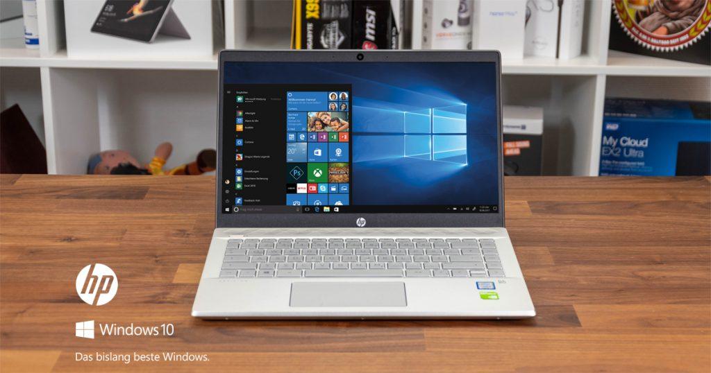 HP Pavilion 14-ce0101ng im Test: schickes Ultrabook mit dedizierter Grafikkarte