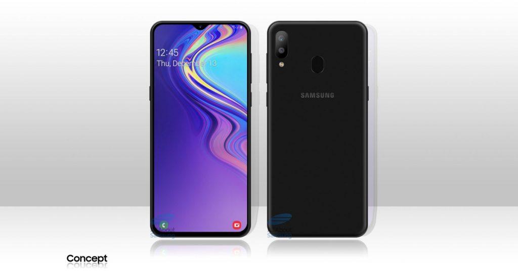 Konzept: So könnte das Samsung Galaxy M20 mit 5000 mAh-Akku aussehen