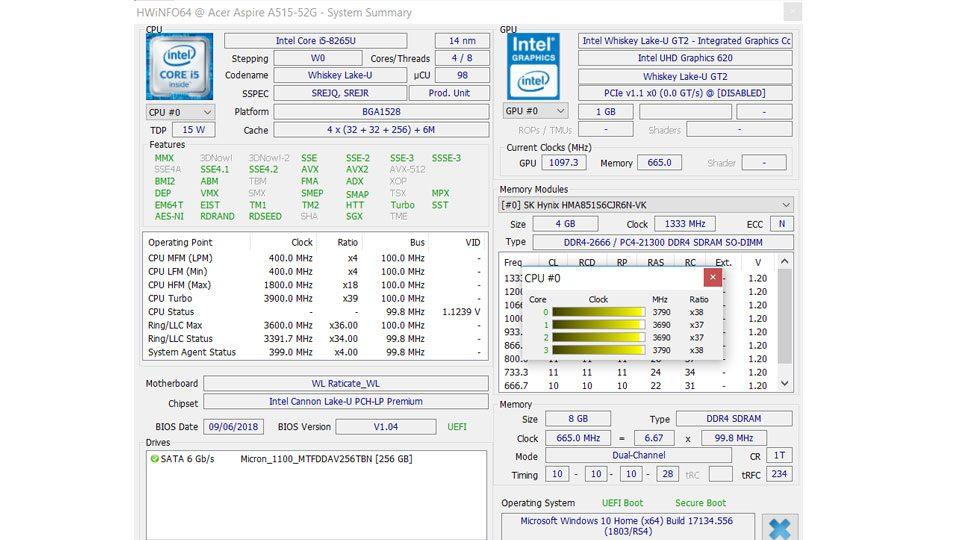 Multimedia-Notebook im Test: Acer Aspire 5 A515-52G-53PU