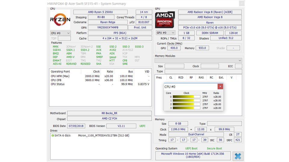 Acer Swift 3 Ultra Thin 15,6 Hardware_7