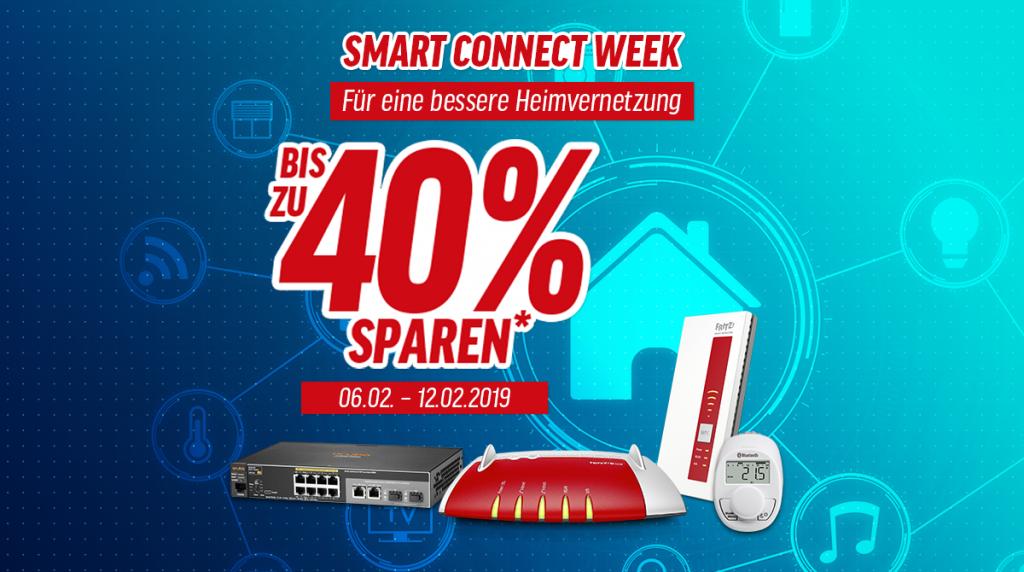 Smart Connect Week –  Spare bis zu 40% auf ausgesuchte Netzwerk-, Smart Home-Artikel und IP-Kameras
