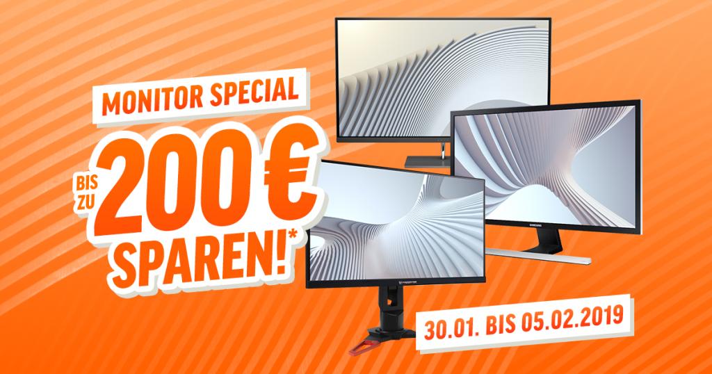 Monitor Special – spare bis zu 200€ auf ausgesuchte Monitore
