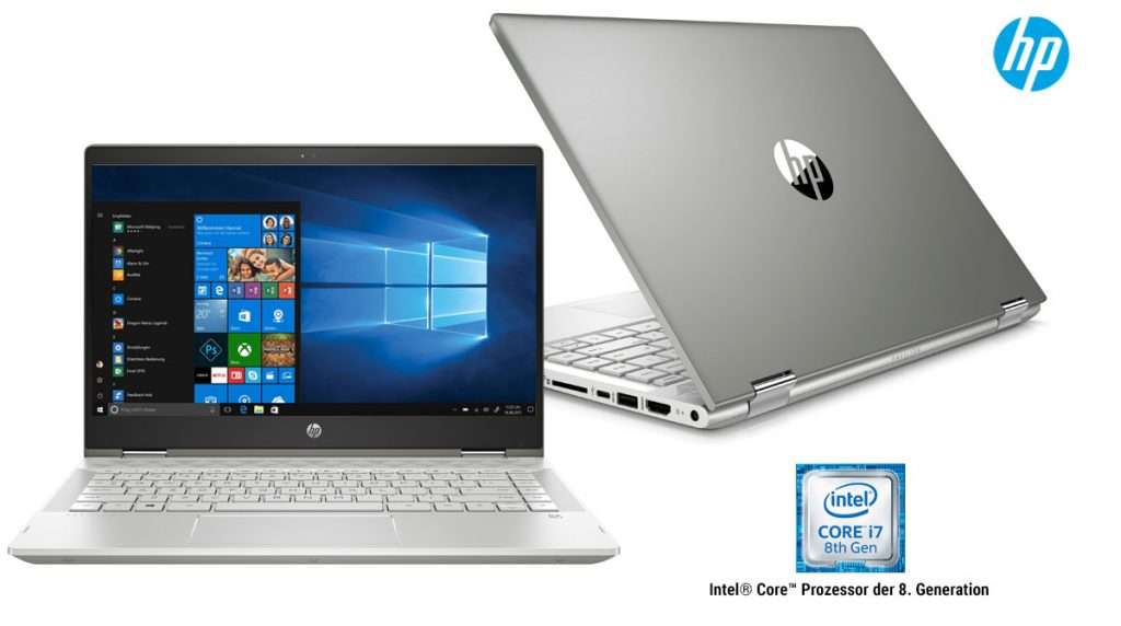 HP Pavilion x360 14-cd0005ng – Convertible-Notebook mit 14″ Display im Test