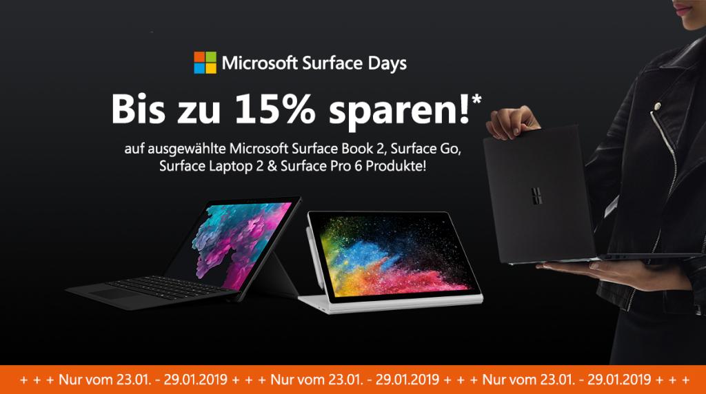 Microsoft Surface Days – bis zu 15% auf ausgewählte Surface Geräte von Microsoft sparen