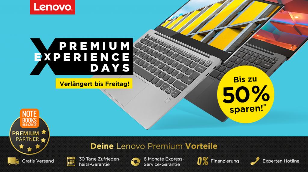 Lenovo Premium Experience Days – bis zu 50% auf ausgesuchte Notebooks, Tablets, PCs & Zubehör sparen
