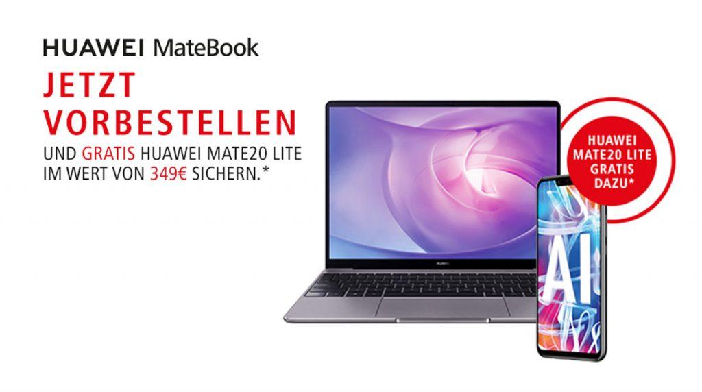 Huawei MateBook 13 jetzt vorbestellen und gratis ein Huawei Mate 20 Lite sichern