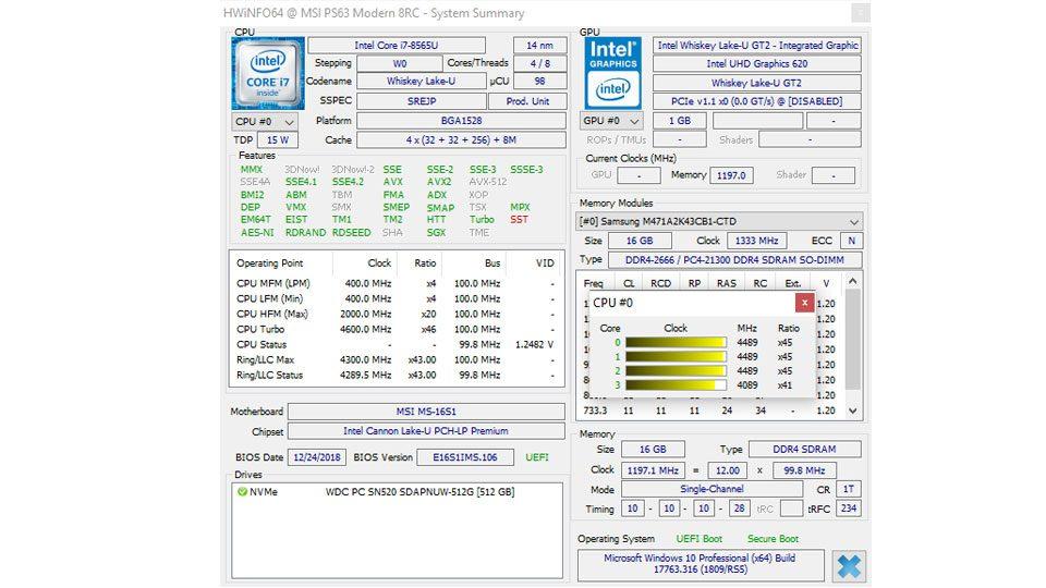 MSI PS63 Modern 8RC Hardware_7