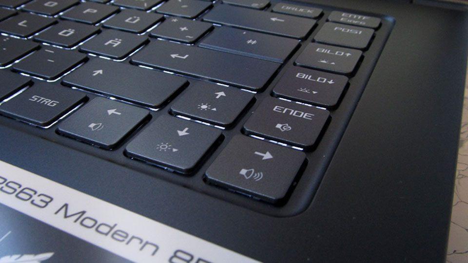 MSI PS63 Modern 8RC Tastatur_5