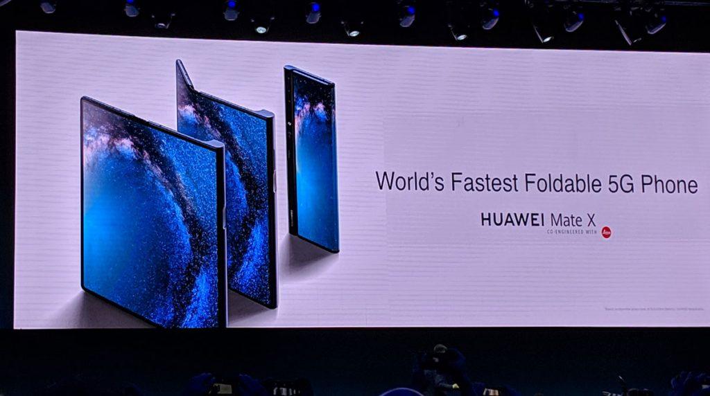 [MWC 2019] Huawei Mate X: Huawei stellt faltbares Smartphone mit 5G vor
