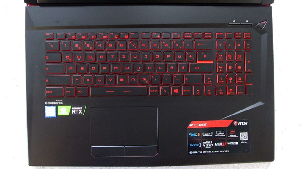 MSI GL73 8SE-014 Tastatur_1