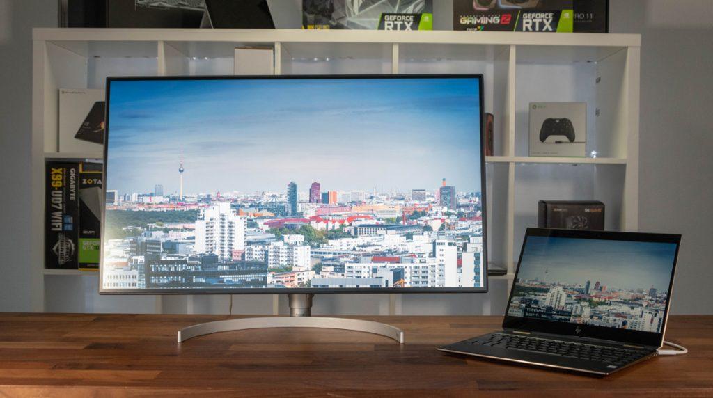 LG 32UL950-W: Großer 4K-Monitor für viele Gelegenheiten