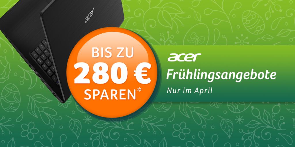 ACER Frühlingsangebote – Spare bis zu 280 € auf ausgewählte Notebooks von ACER
