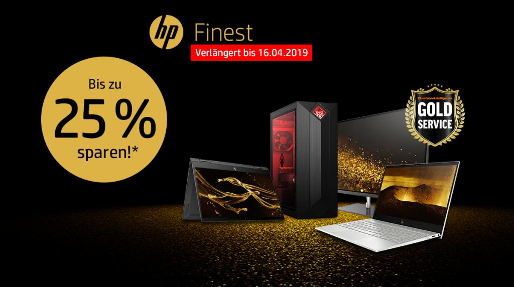 HP Finest – Spare bis zu 25% auf ausgewählte Notebooks, Monitore und PC-Systeme von HP