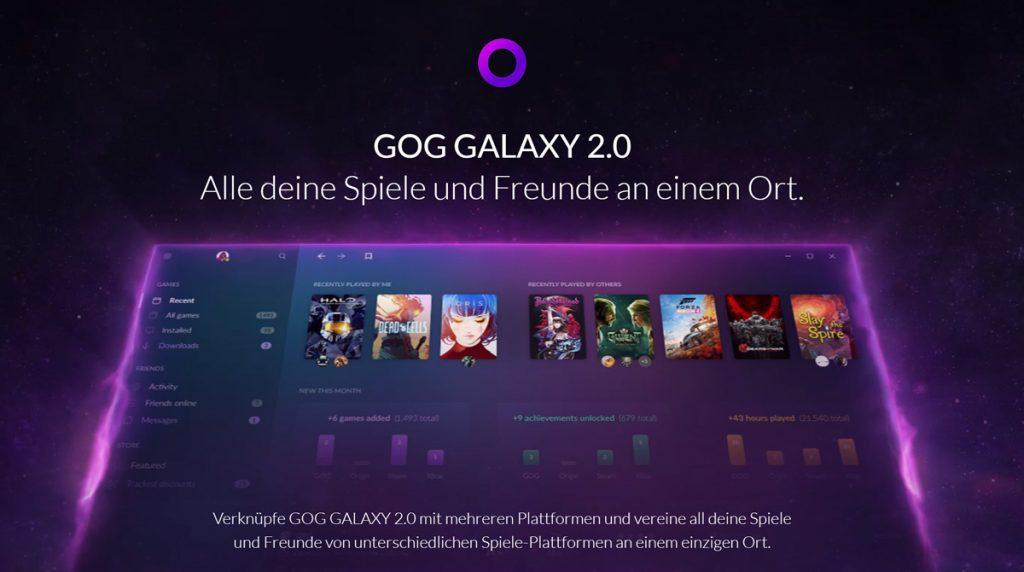 All eure Games & Freunde an einem Ort: GOG Galaxy 2.0 angekündigt