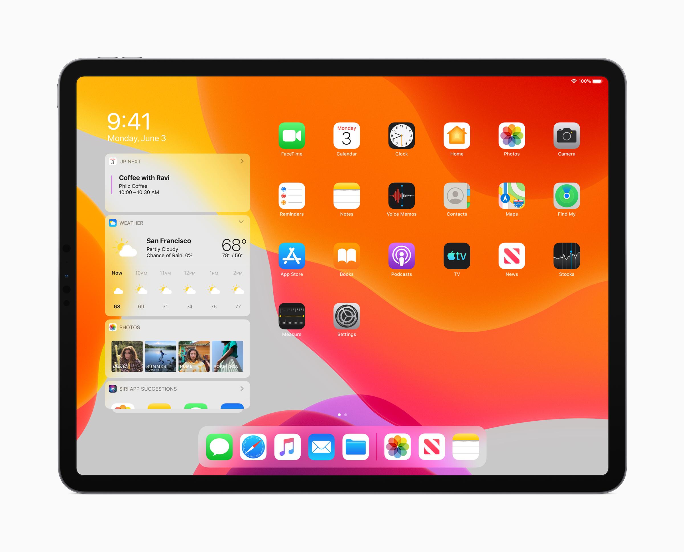 apple ipad os start screen