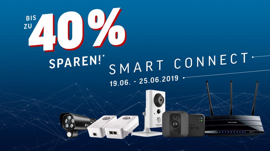 Smart Connect Week: Bis zu 40% auf ausgewählte Smart Home- und Netzwerkartikel sparen