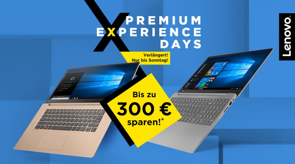 Spart bis zu 300 Euro bei den Lenovo Premium Experience Days