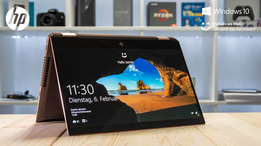 HP Spectre x360 15-df0012ng im Test: Kantiges Convertible mit OLED-Display und Intel Optane