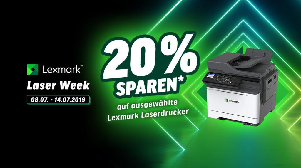 Lexmark Laser-Week: Spart 20% auf ausgewählte Laserdrucker